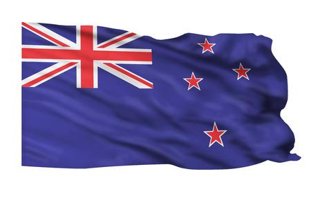 Flag of New Zealand flying high. Banco de Imagens