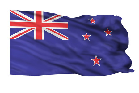 bandera de nueva zelanda: Bandera de Nueva Zelanda volando alto.
