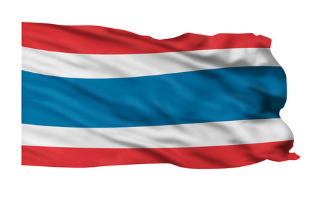 Flag of Thailand flying high in the wind. Stock Photo - 24768704