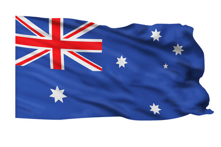 Flag of Australia flying high in the wind. Stock Photo - 24768802
