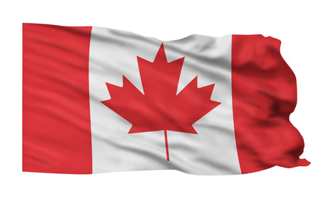 Flag of Canada flying high in sky. Stock Photo - 25309601