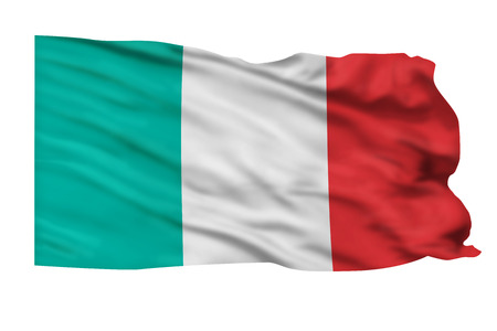 Flag of Italy flying high in the sky. Stock Photo - 25312441