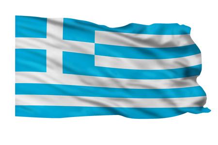 Flagge von Griechenland fliegt hoch in den Himmel. Standard-Bild - 25313428