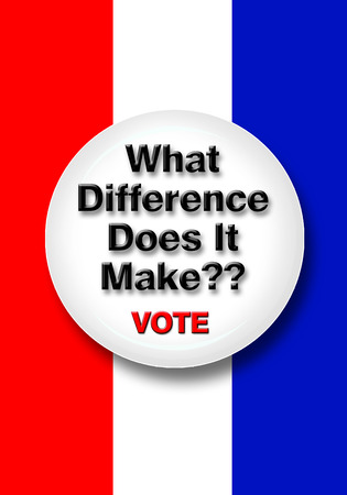 voting booth: What difference dose it make button.
