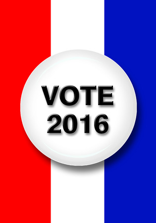 voting booth: Vote 2016 button.