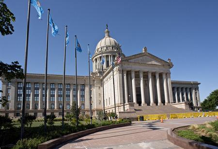 Oklahoma capital building located in Oklahoma,City. photo