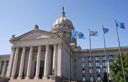 Oklahoma capital building located in Oklahoma,City. photo