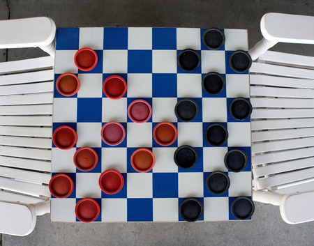 Checkerboard game from a birds eye view. Stock Photo - 28451470