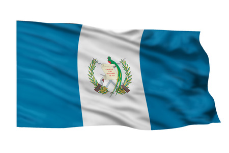 Guatemala flag flying high in the sky.