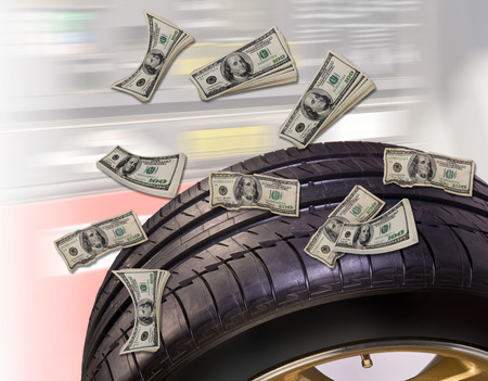 radial tire: New tires save money.