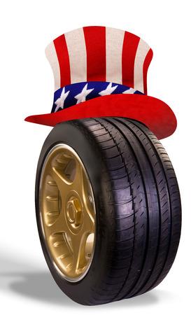 bandera carrera: Transporte estadounidense.