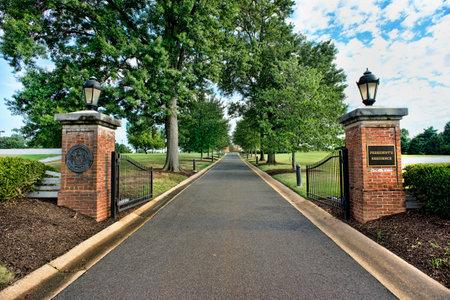 University of Maryland President resident entrance.