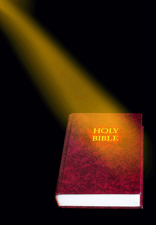 Bible with glow and room for your type. photo
