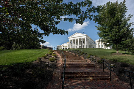 Virginia State Capital building in Richmond, Virginia.