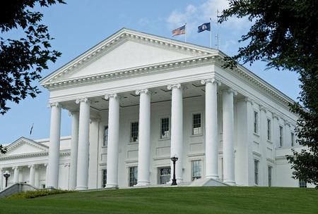 Virginia State Capital building in Richmond, Virginia.