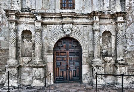 antonio: Front entrance to the famous Alamo in San Antonio. Editorial