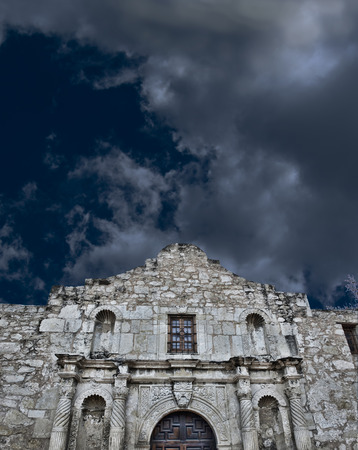antonio: A stormy night at the Alamo  Editorial