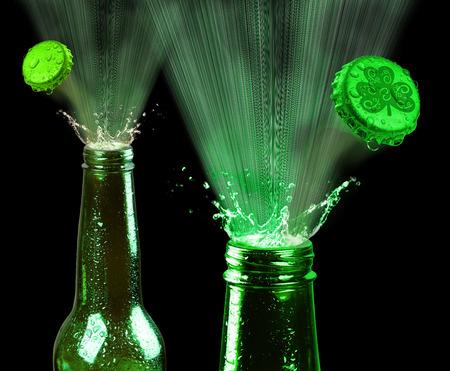 Saint Patricks day green beer.