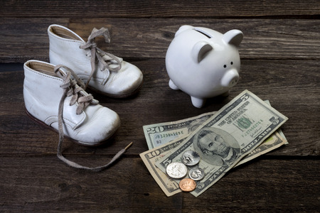 financial planning: Baby investment for their future. Stock Photo
