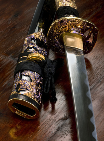 wojenne: Miecz samurajski z Japonii.