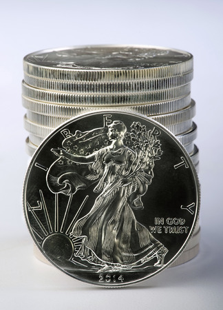 financial cash: Dollar silver eagle is one ounce of pure silver.