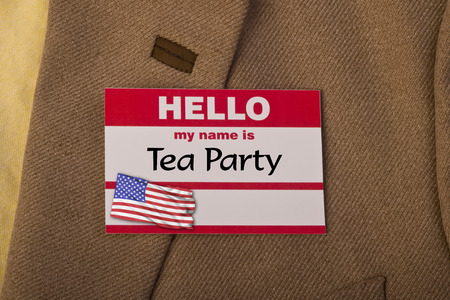 tea party: My name is tea party. Stock Photo