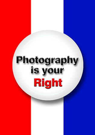 liberties: Photography is your right as an American. Stock Photo