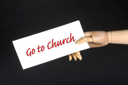 predicador: Ir a la muestra de la iglesia de un amigo. Foto de archivo