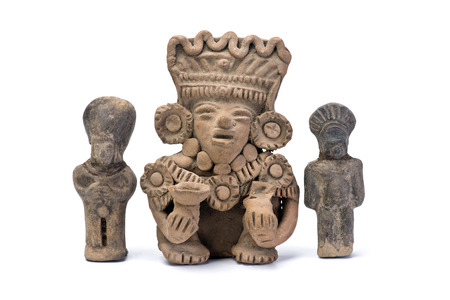 indian artifacts: Pre Columbian warriors made around 600 AD.