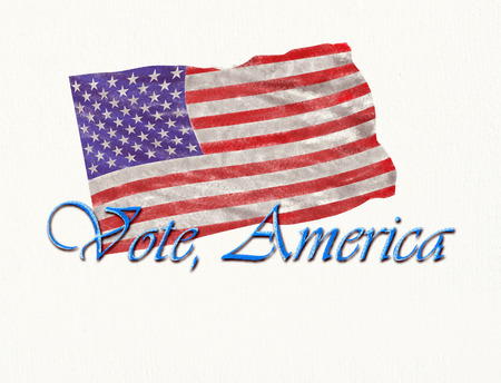 Vote America on art paper ready for the elections.
