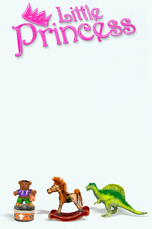 little princess: Little princess on white art paper with room for your type. Stock Photo