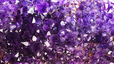 Amethyst Crystals. Stock Photo