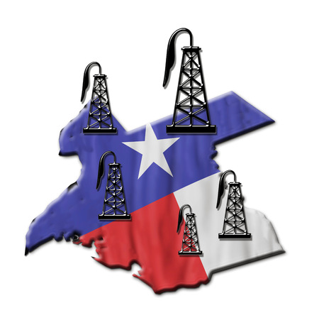 texas tea: Texas booming oil field industry.