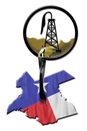 Texas booming oil field industry pouring black gold.
