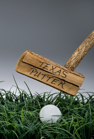 outrageous: Texas golf putter with room for your type.