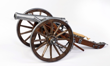 cannon gun: Model of a 1863 Dahlgren cannon.