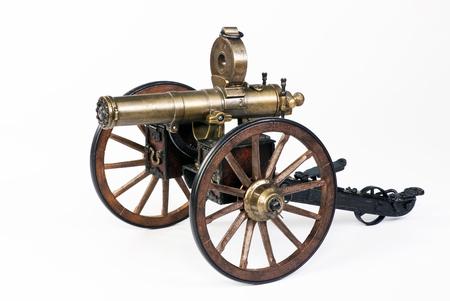 hartford: Model of a 1883 Hartford Gatling gun.