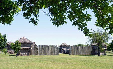 stockade: Museum of the Great Plains in Lawton, Oklahoma. Editorial