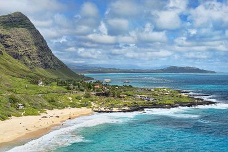 Honolulu,Hawaii big blue ocean vista view. Stock Photo