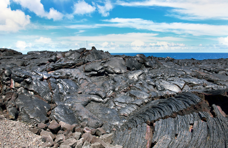mottled: Hawaii mottled lava makes for cool background on the Big Island..