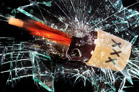 moonshine: White lighting jug popping cork and exploding.