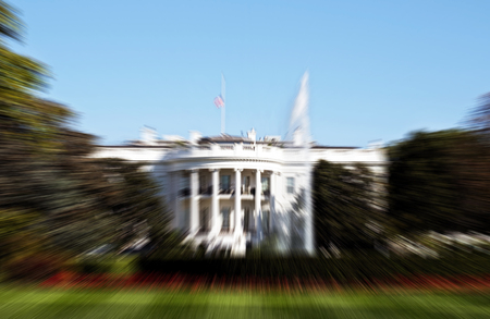 obama: Blurred Washington White House background with room for your type. Stock Photo
