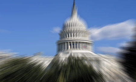 Blurred background of  US Capital in Washington,DC.