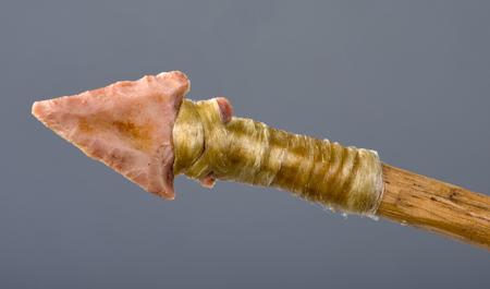 arrowhead: Real American Indian bird point pink flint arrowhead.