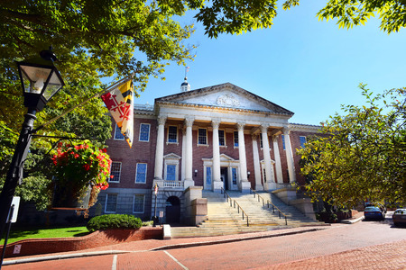 Maryland State Capital building in Annapolis, Maryland. Editorial