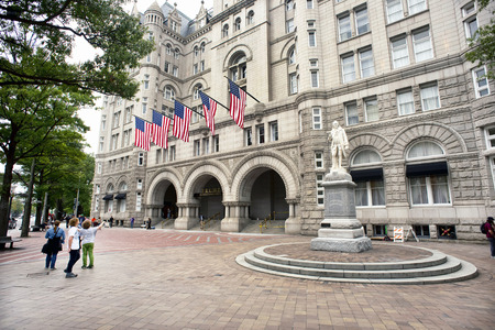 ave: Washington, DC. Oct. 6, 2016 : Donald Trump International Hotel built in the old Pennsylvania, Ave Post Office.