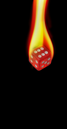Red hot dice on fire and rolling with room for your type.
