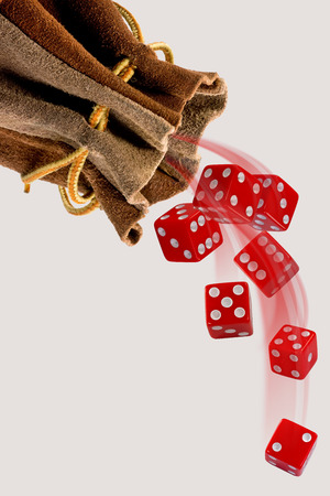 rolling dice: Rolling the red dice with room for your type.