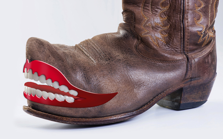 Cowboy boots with room for your type.
