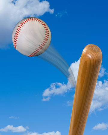 hurl: Baseball bat hitting  a super fast hardball.